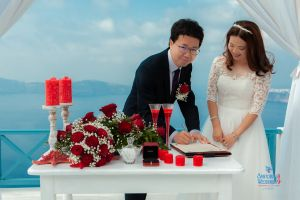 Best Of Jin  Huanqians Wedding By Santorini8 Weddings9   Dragons Group 6