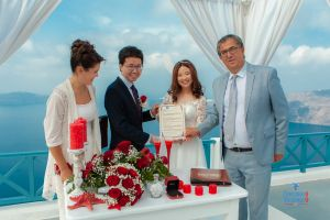 Best Of Jin  Huanqians Wedding By Santorini8 Weddings9   Dragons Group 7